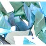 Cp-02 Glasscherven Zeeblauwmix